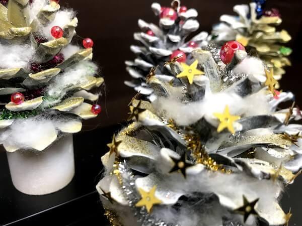 松ぼっくりクリスマスツリー9