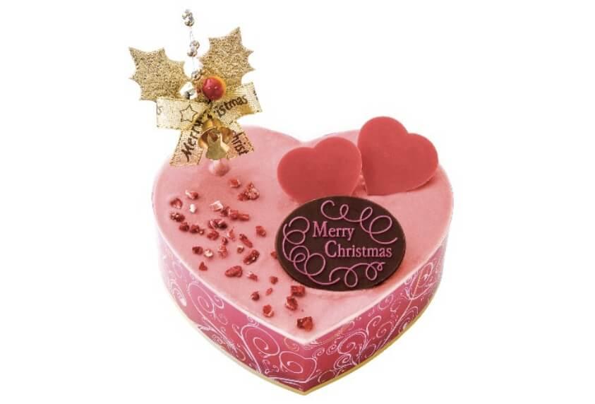 クリスマスルビーカカオクリームのケーキ