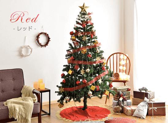 オーナメント2倍クリスマスツリー