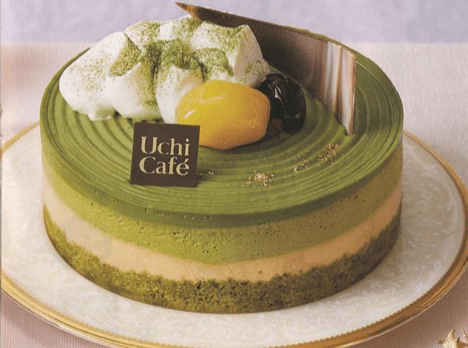 宇治抹茶ときなこのケーキ