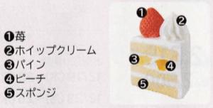 苺のクリスマスケーキ(4号)