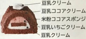 米粉と豆乳ココアクリームのブッシュドノエル2