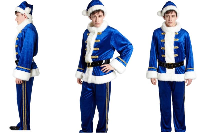ヨーロッパの王子様風のサンタコスプレ衣装