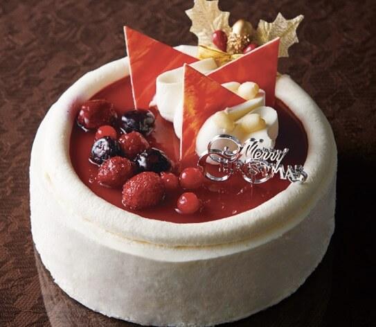 Xmas4種ベリーのスフレチーズデコレーション