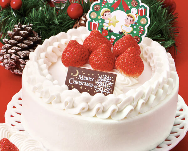 クリスマスショートケーキ (フルーツサンド)