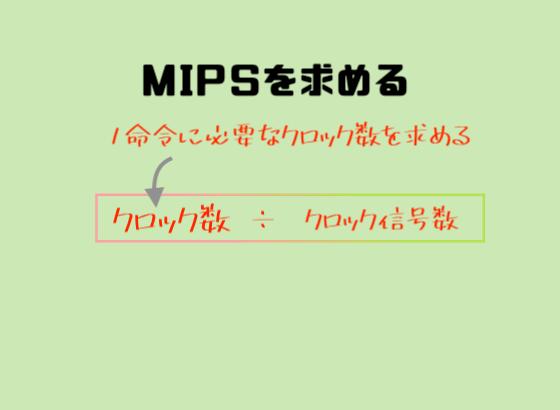 「MIPS」を求める