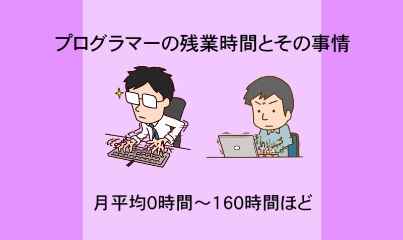 プログラマーの残業時間とその事情