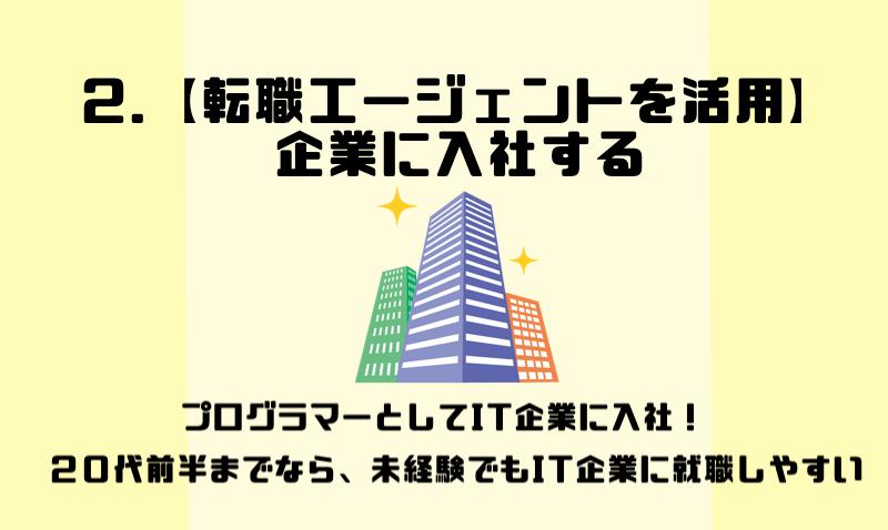 2.【転職エージェントを活用】企業に入社する