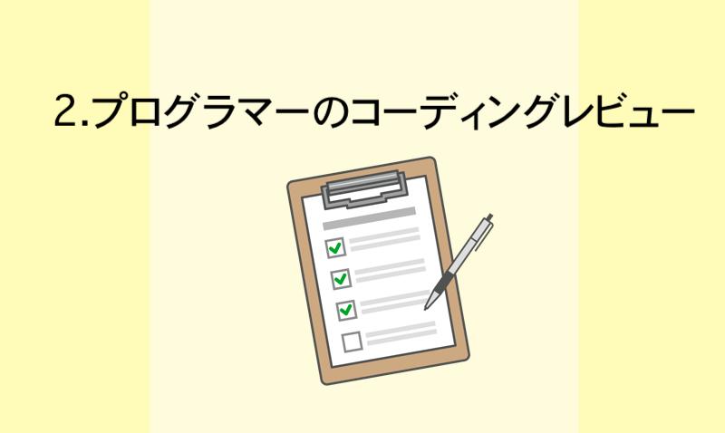 2.(下請け)プログラマーのコーディングレビュー