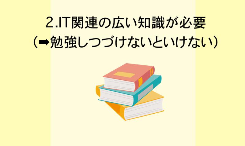 2.IT関連の広い知識が必要