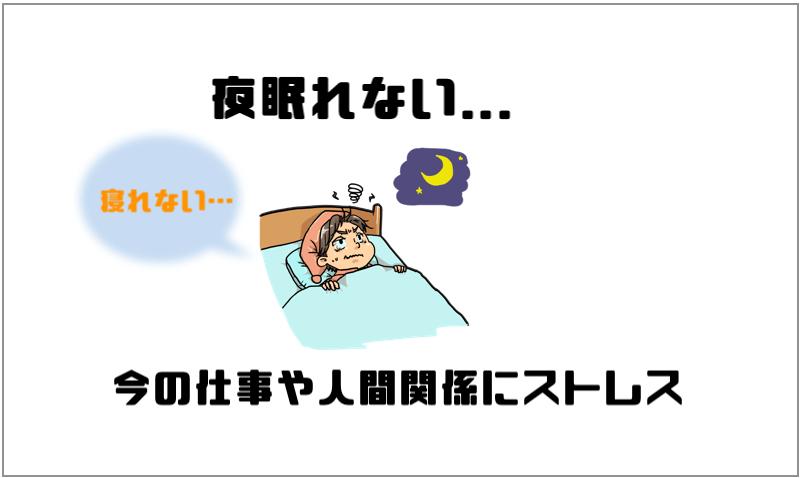 夜眠れない...