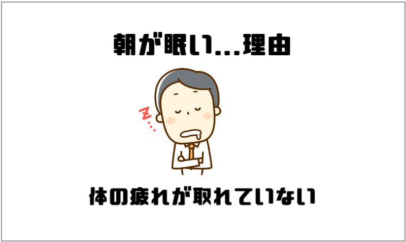 朝が眠い...理由