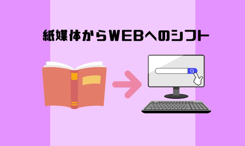 紙媒体からWEBへのシフト(経験談)