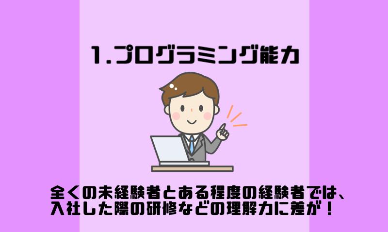 1.プログラミング能力