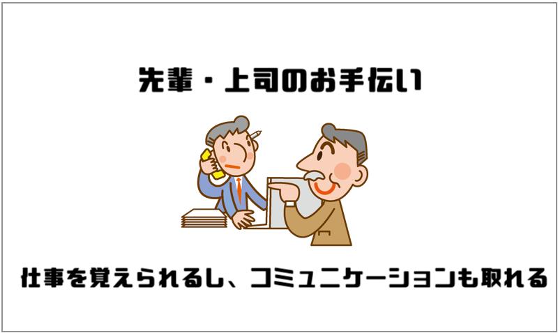 1.先輩・上司のお手伝い