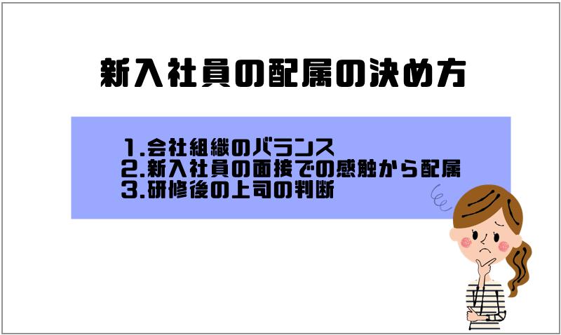 1.新入社員の配属の決め方