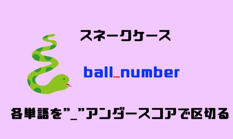 3.スネークケース