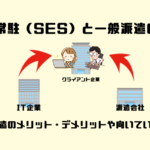 客先常駐(SES)と一般派遣の違い|派遣のメリット・デメリットや向いている人