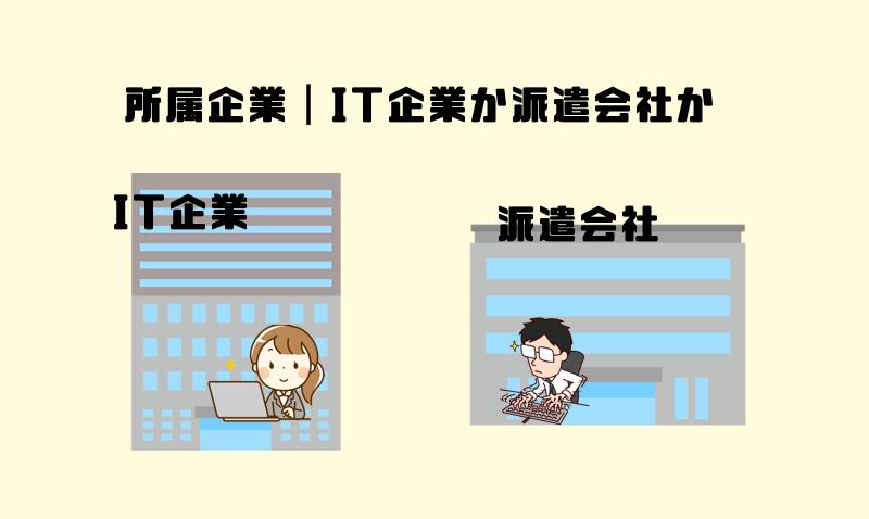1.所属企業 IT企業か派遣会社か